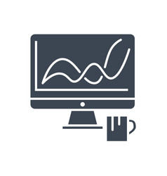 web analytics glyph icon vector image
