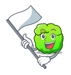 with flag shrub mascot cartoon style vector image
