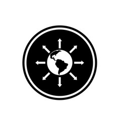 World expansion round glyph icon social community vector