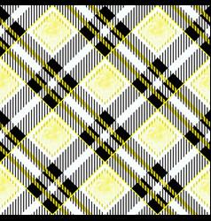 yellow and black watercolor scottish woven tartan vector image