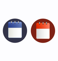 blank sheet of calendar icon in two variants vector image vector image