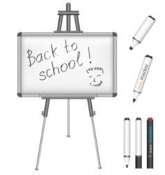 marker board back to school vector image