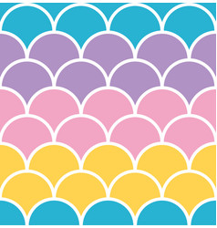 pastel scale seamless pattern with white outline vector image vector image