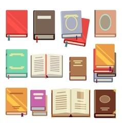 School text book flat icons vector image vector image