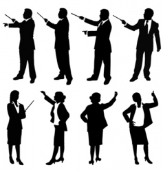 business people presentation vector image vector image