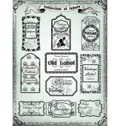 Collection of vintage labels for designVictorian vector image