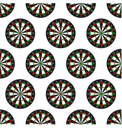 dartboard seamless pattern vector image