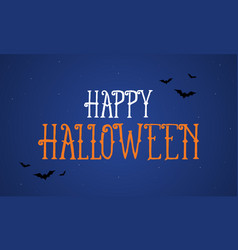 halloween night background greeting card vector image