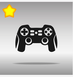 joystick black icon button logo symbol vector image