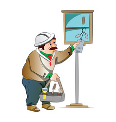 maintenance guy vector image