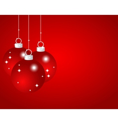 Red Christmas balls on a red background vector image vector image