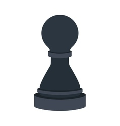silhouette with figure pawn of chess vector image