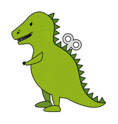 t-rex toy isolated icon vector image vector image