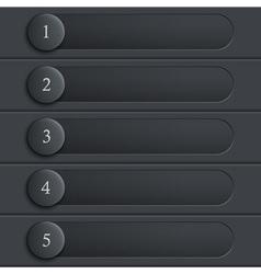 Black stylish design website layout vector image vector image