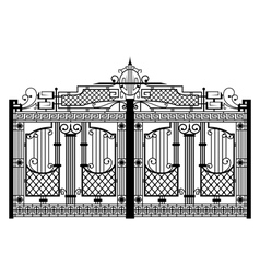 Forged gate architecture detail vector