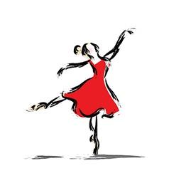 Gesture dancer drawing vector image