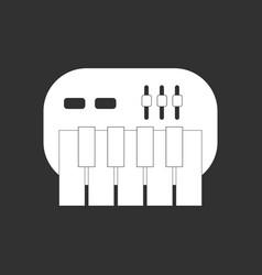 White icon on black background children musical vector