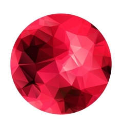 Abstract geometric polygonal red sphere vector image