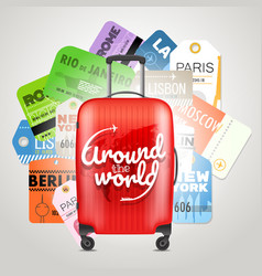 Different boarding pass collection and modern vector