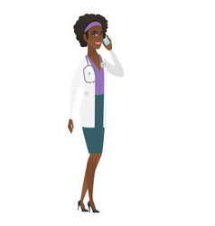 Doctor talking on a mobile phone vector