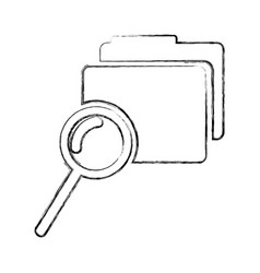 folder file with magnifying glass isolated icon vector image