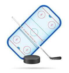 hockey playground vector image vector image