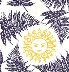 Ivana Kupala ink hand drawn seamless pattern vector image