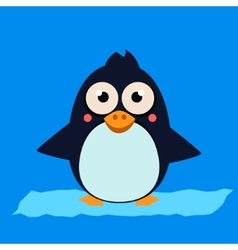 Penguin Standing on Ice vector image