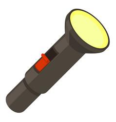 Pocket flashlight icon cartoon style vector