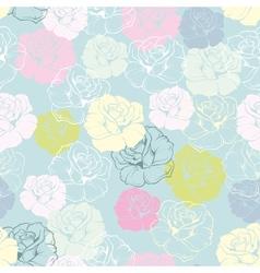Rose flower decoration wallpaper background vector image vector image