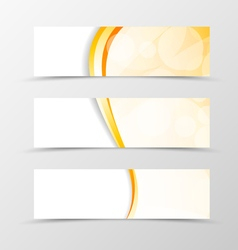 Set of header banner light smooth design vector
