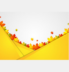 abstract corporate background with autumn leaves vector image