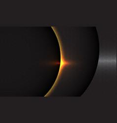 Abstract dark grey curve shadow gold light hexagon vector