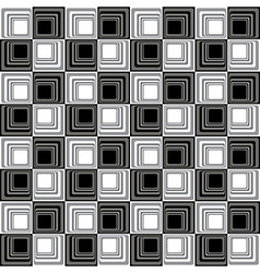 Abstract Modern Seamless Pattern BW vector image