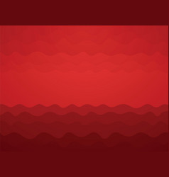 abstract red blood waves background vector image