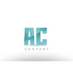 Ac a c alphabet letter green logo icon design vector