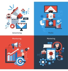 Advertising Marketing Set vector image