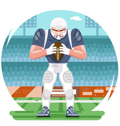 american football rugby player chatacter agressive vector image