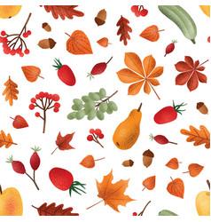 Autumn harvest seamless pattern seasonal vector