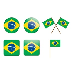 Badges with flag of Brazil vector