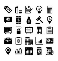 banking and finance line icons 12 vector image