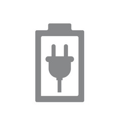 battery icon accumulator with charging vector image