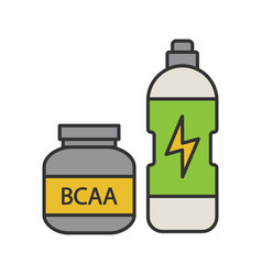 Bcaa supplement color icon vector