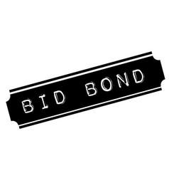 Bid bond black stamp vector