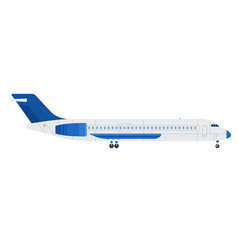blue plane flat material design isolated object vector image