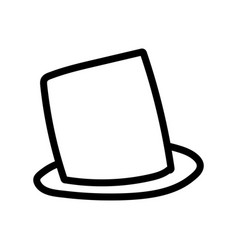 brown top hat accessory fashion icon thick line vector image