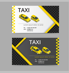 business card design in black white and yellow vector image vector image