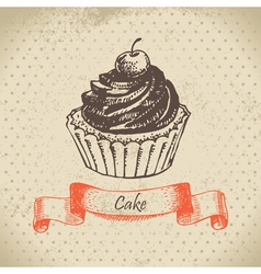 Cake hand drawn vector