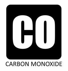 Carbon monoxide symbol vector