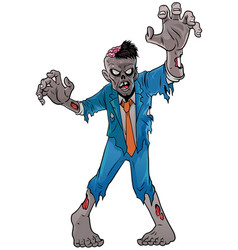 cartoon zombie halloween vector image